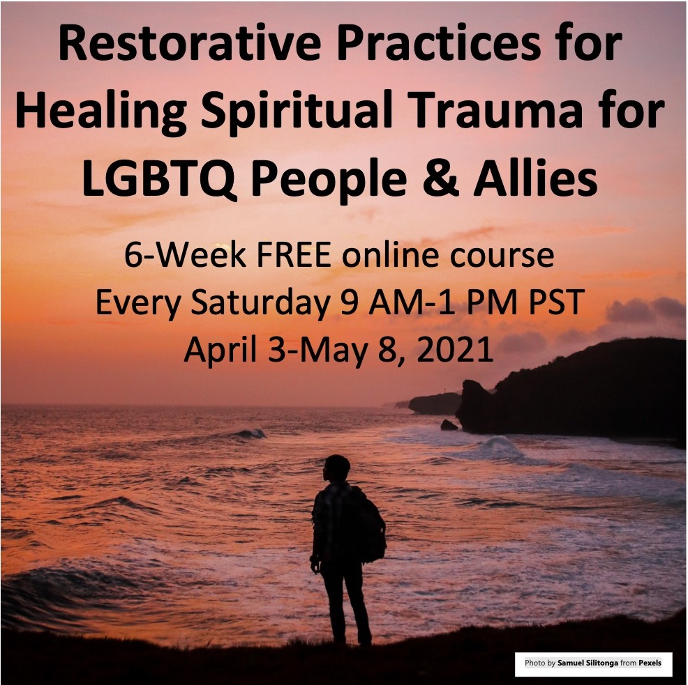 restorative practices for healing spiritual trauma for lgbtq people and allies course